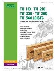 TJI 110, 210, 230, 360, and 560 Joist Specifier's Guide - Kier ...