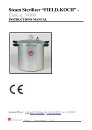 "Steam Sterilizer ""FIELD-KOCH"" - Code n. 39160 - International Pbi"