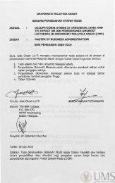 UNIVERSITI MALAYSIA SABAH BORANG PENGESAHAN ... - UMS