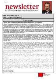 Newsletter aus Berlin Nr. 11/2012 - Gerold Reichenbach