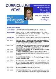 Curriculum STANDEKERkurz inkl Publikationsliste - TU Austria