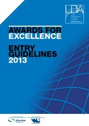 AwArds for ExcEllEncE EnTrY GUIdElInEs 2013 - UDIA