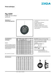 Fiche technique Fig. 635V - SOCLA
