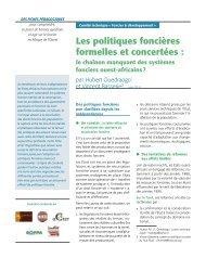 Les politiques foncières formelles et concertées : le chaînon ... - aGter