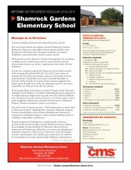 Shamrock Gardens Elementary School - Charlotte-Mecklenburg ...