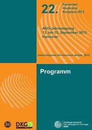 Programm - Arbeitsgemeinschaft Dermatologische Onkologie