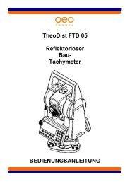 TheoDist FTD 05 Bedienungsanleitung - geo-FENNEL GmbH