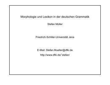 str - German Grammar Group FU Berlin