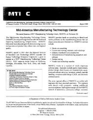 Mid-America Manufacturing Technology Center - Advanced ...