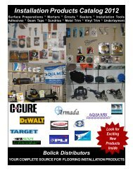 Installation Products Catalog 2012 - Bolick Distributors
