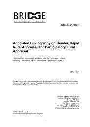 Annotated Bibliography on Gender, Rapid Rural Appraisal ... - Bridge