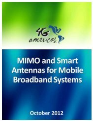 MIMO and Smart Antennas for Mobile Broadband ... - 4G Americas