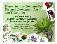 Enhancing the Community g y Through Demonstration and Education