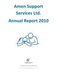 Amen Support Services Ltd. Annual Report 2010