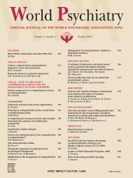 Volume 8, Number 3 - October 2009 - World Psychiatric Association