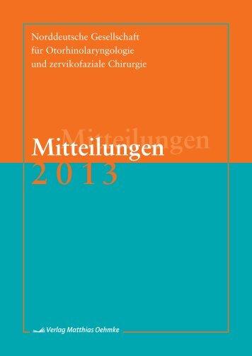 Mitteilungen 2013 - Norddeutsche Gesellschaft für ...