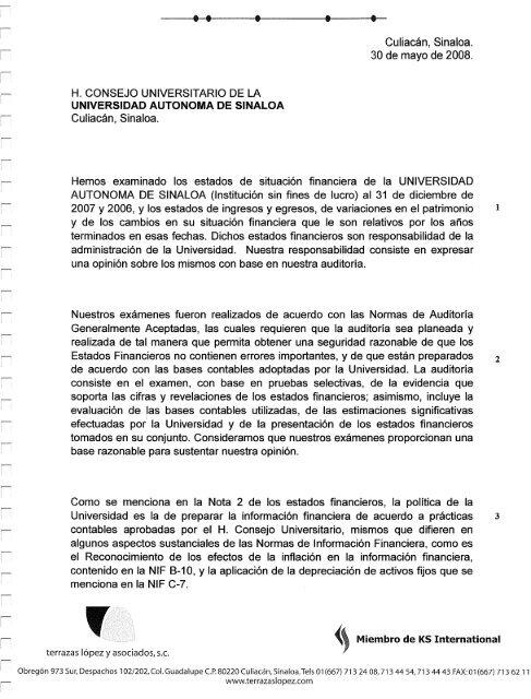 Culiacã N Sinaloa 30 De Mayo De 2008 Transparencia Uas