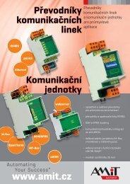 Převodníky komunikačních linek Komunikační jednotky - AMiT