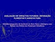 interação florestas e agricultura. - SIGAM