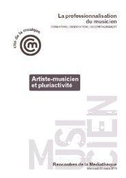 Le musicien et la pluriactivité - Arcade PACA