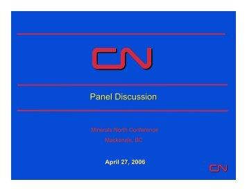Panel Discussion - Minerals North