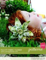 Carina Gardner: Felicity Fabric Flower