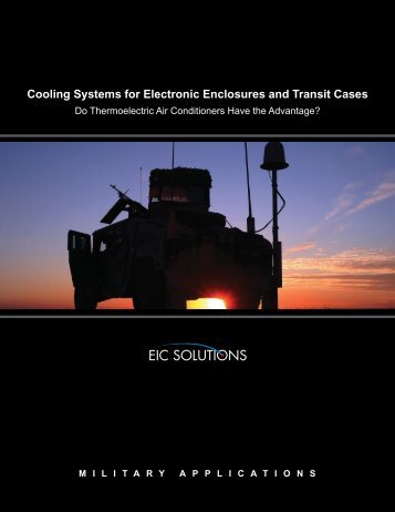 Cooling Systems for Electronic Enclosures and ... - EIC Solutions, Inc.