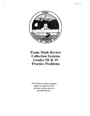Exam Math Review Collection Systems Grades III & IV Practice ...