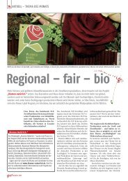 THEMA DES MONATS Regional – fair – bio - Flower Label FLP