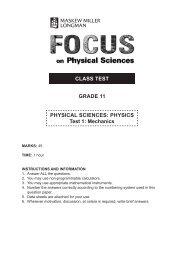 PHYSICS Test 1 - Maskew Miller Longman
