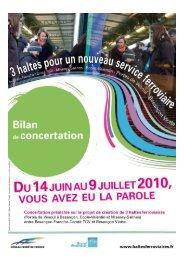 Le bilan quantitatif de la concertation - Grand Besançon