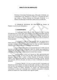 minuta de deliberação - Secretaria do Meio Ambiente e Recursos ...