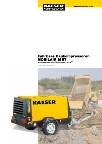 Fahrbare Baukompressoren MOBILAIR M 57
