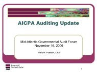 AICPA Auditing Update - intergovernmental audit forums