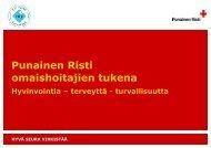 Omaishoitajien tukitoiminta 2013.pdf - RedNet - Punainen Risti