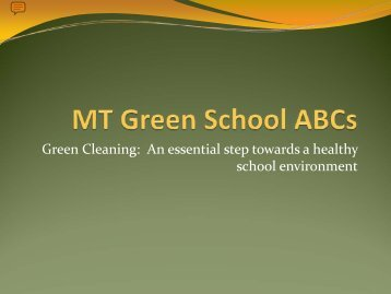 MT Green School ABCs - Peaks to Prairies
