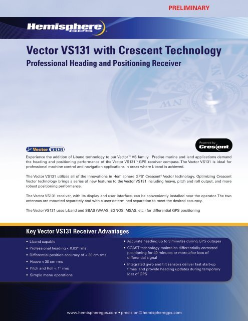 VS131 L-Band Vector pdf