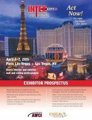 AWCI Exhibit 2011 NEW.indd - Ceilings & Interior Systems ...