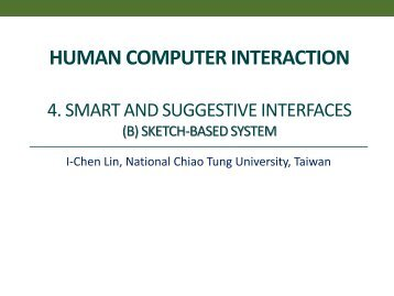 Smart and suggestive interfaces B