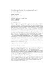Speeding up Spatial Approximation Search in Metric Spaces