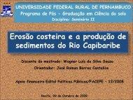 Erosão costeira e a produção de sedimentos do Rio Capibaribe