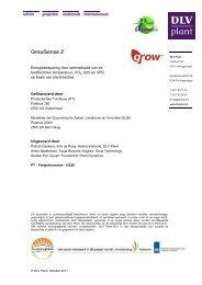Onderzoeksverslag (DLV plant), versie 1.2 - Productschap Tuinbouw