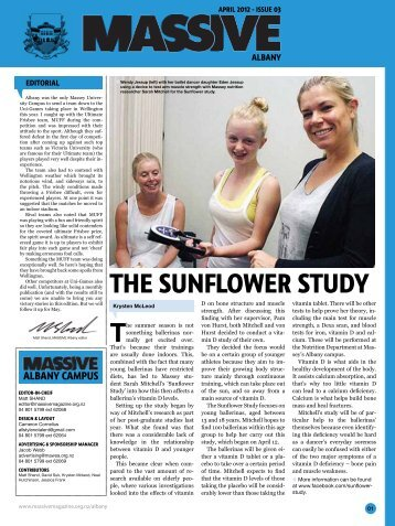 THE SUNFLOWER STUDY - Massive Magazine