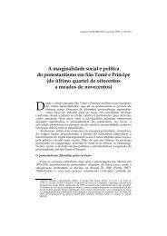 A marginalidade social e política do protestantismo em ... - Lusotopie
