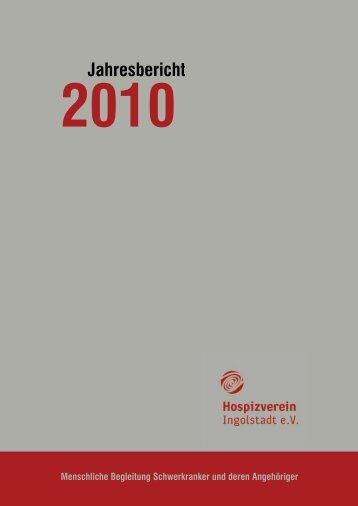 Jahresbericht 2010 - Hospizverein Ingolstadt eV