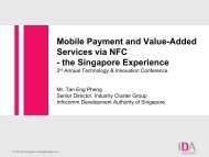 Mobile Payment and Value-Added Services via NFC - the Singapore ...