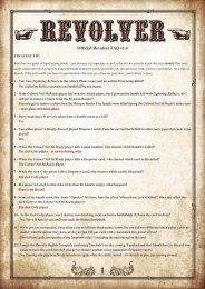 1 Official Revolver FAQ v1.4 - White Goblin Games