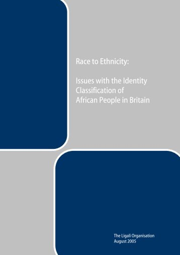 Issues with the Identity Classification of African People in ... - Ligali