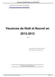 Vacances de Noël et Nouvel an 2012-2013