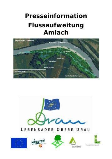 Presseinfo Flutung Drau-Nebenarm bei Amlach - LIFE Lebensader ...